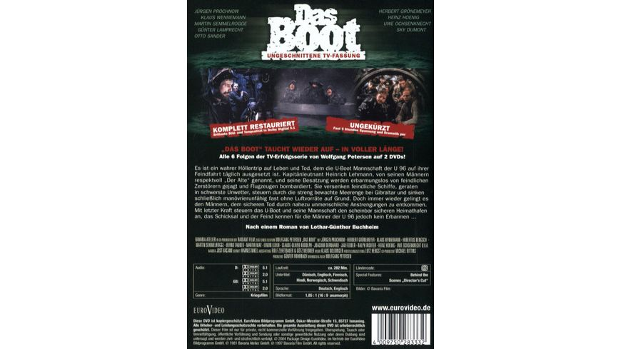 Das Boot TV Fassung 2 DVDs