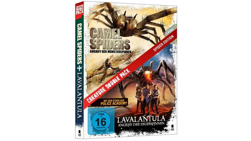 Creature Double Pack Spider Edition Camel Spiders Lavalantula 2 DVDs