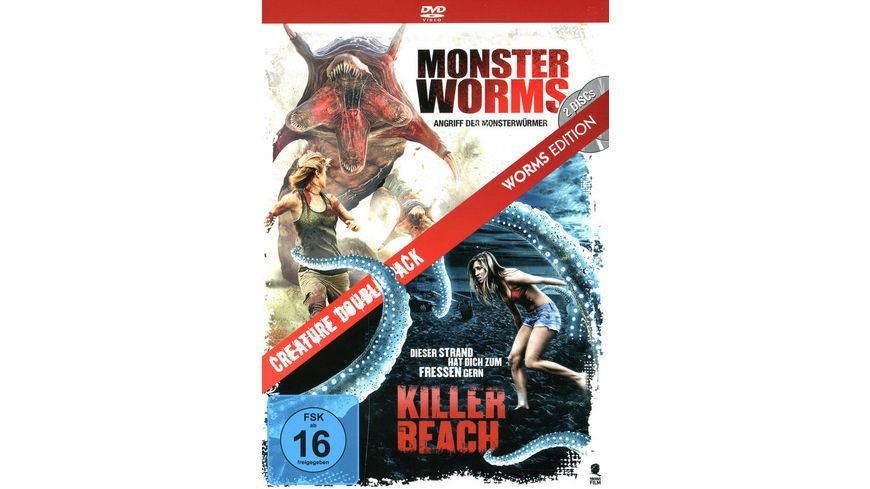 Creature Double Pack Worms Edition Killer Beach Monster Worms 2 DVDs