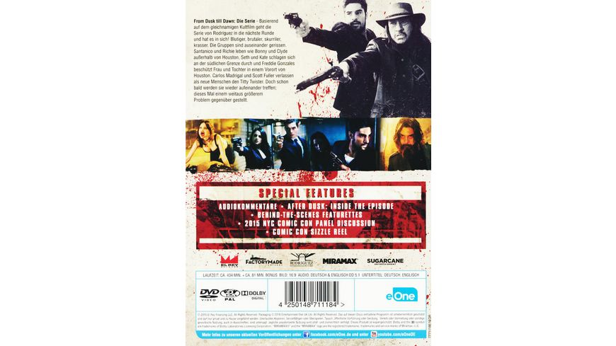 From Dusk Till Dawn Staffel 2 3 DVDs