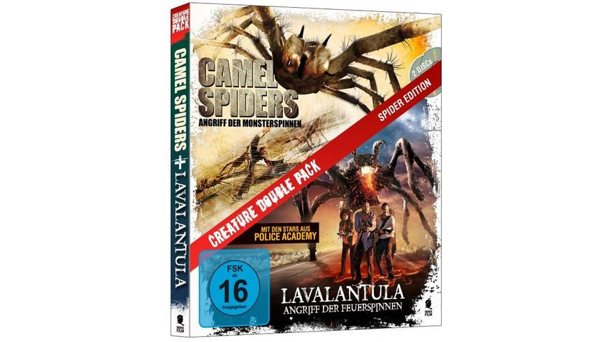 Creature Double Pack Spider Edition Camel Spiders Lavalantula 2 BRs