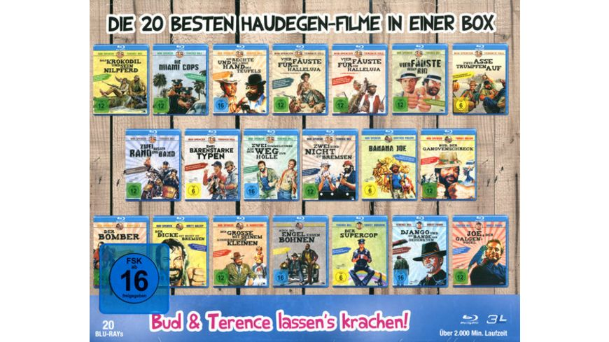 Bud Spencer Terence Hill Mega Blu ray Collection 20 BRs
