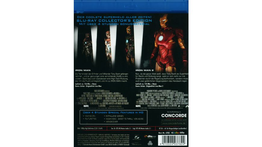 Iron Man 1 2 CE 2 BRs