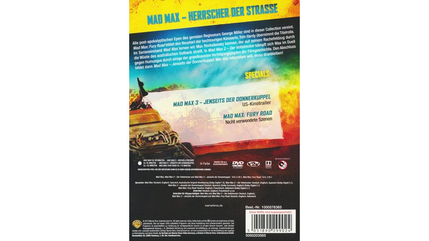 Mad Max Collection 4 DVDs
