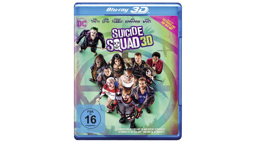 Suicide Squad (Kinofassung als Blu-ray 3D) (+ Extended Cut als Blu-ray)