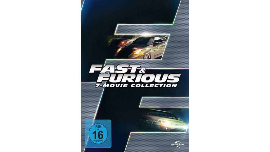 Fast Furious 1 7 Box 7 DVDs