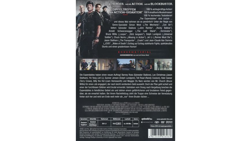 The Expendables 2 Back for War Uncut
