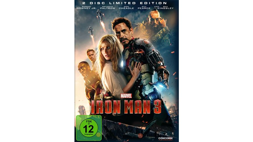 Iron Man 3 Cine Collection Steelbook LE 2 DVDs