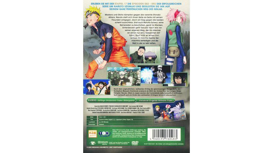 Naruto Shippuden Der vierte grosse Shinobi Weltkrieg Die Rueckkehr von Team 7 Staffel 17 Folgen 582 592 Uncut 3 DVDs
