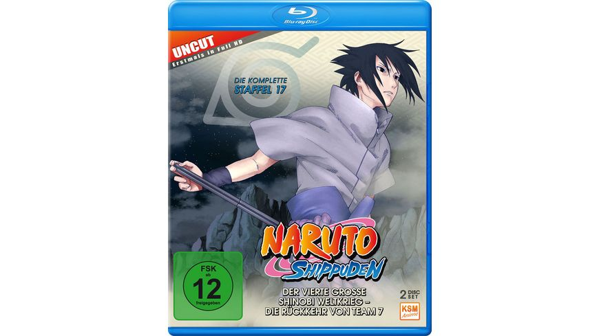 Naruto Shippuden Der vierte grosse Shinobi Weltkrieg Die Rueckkehr von Team 7 Staffel 17 Folgen 582 592 Uncut 2 BRs