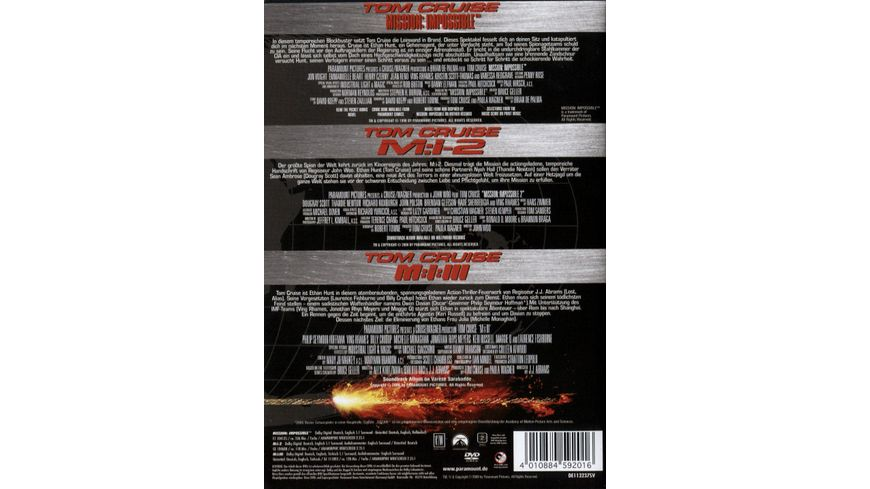 Mission Impossible Trilogy 3 DVDs