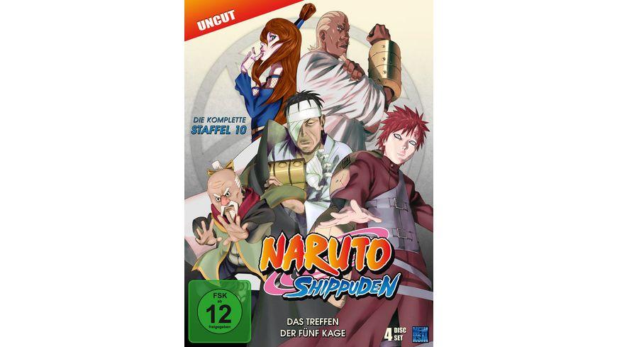 Naruto Shippuden Staffel 10 Uncut 4 DVDs