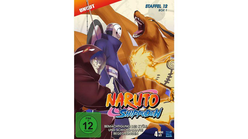 Naruto Shippuden Staffel 12 Box 1 Uncut 4 DVDs