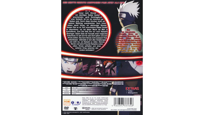 Naruto Shippuden Die Erben des Willens des Feuers The Movie 3