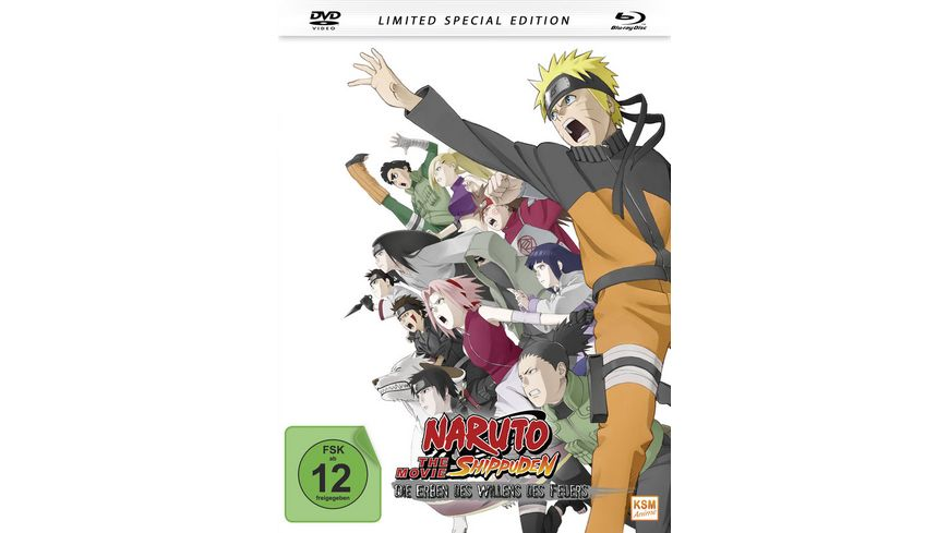 Naruto Shippuden Die Erben des Willens des Feuers The Movie 3 Mediabook DVD SE