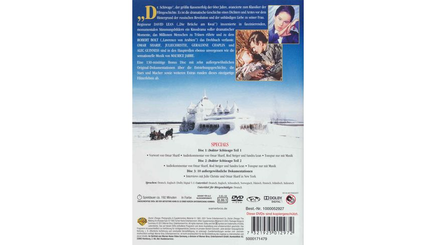 Doktor Schiwago 3 DVDs