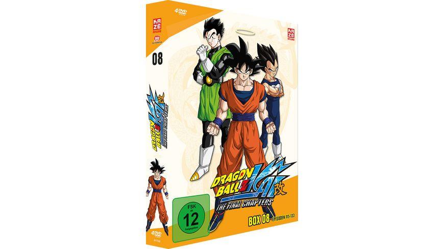 Dragonball Z Kai Box 8 Ep 115 133 4 DVDs