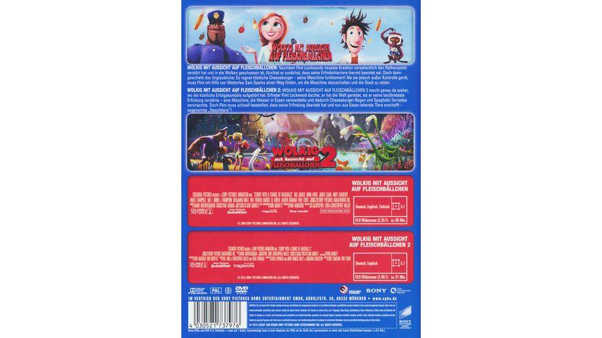 Wolkig mit Aussicht auf Fleischbaellchen Wolkig mit Aussicht auf Fleischbaellchen2 Best of Hollywood 2 Movie Collector s Pack 2 DVDs