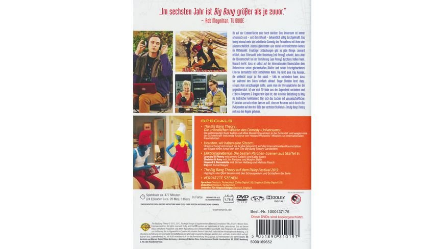 The Big Bang Theory Staffel 6 3 DVDs