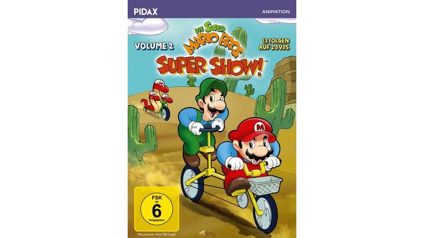 Die Super Mario Bros Super Show Vol 2 Weitere 13 Folgen mit dem beruehmten Videospiel Duo 3 Bonusepisoden Pidax Animation 2 DVDs