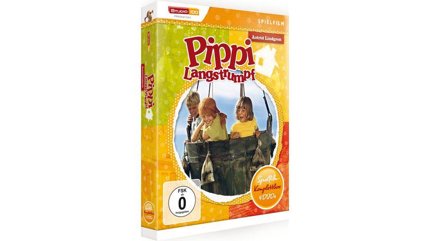 Pippi Langstrumpf Spielfilm Box 4 DVDs