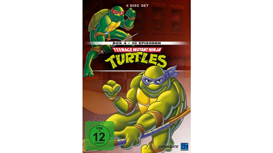Teenage Mutant Ninja Turtles Box 4 4 DVDs