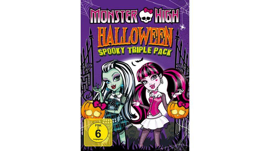 Monster High Halloweenbox 3 DVDs