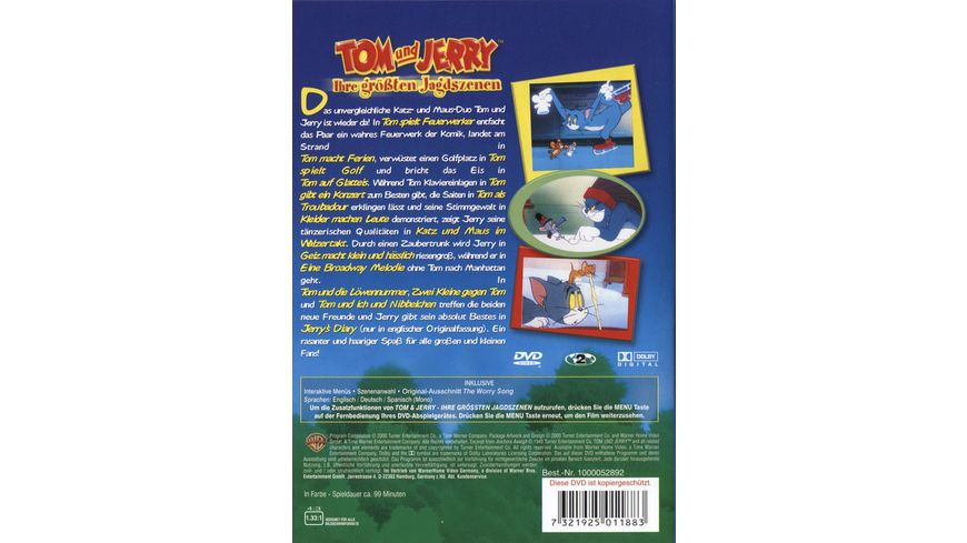 Tom Jerry Ihre groessten Jagdszenen Vol 1 Warner Kids Edition