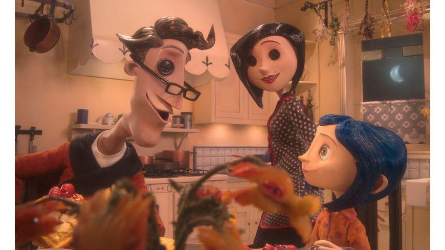Coraline 3D CE 2 DVDs 4 3D Brillen