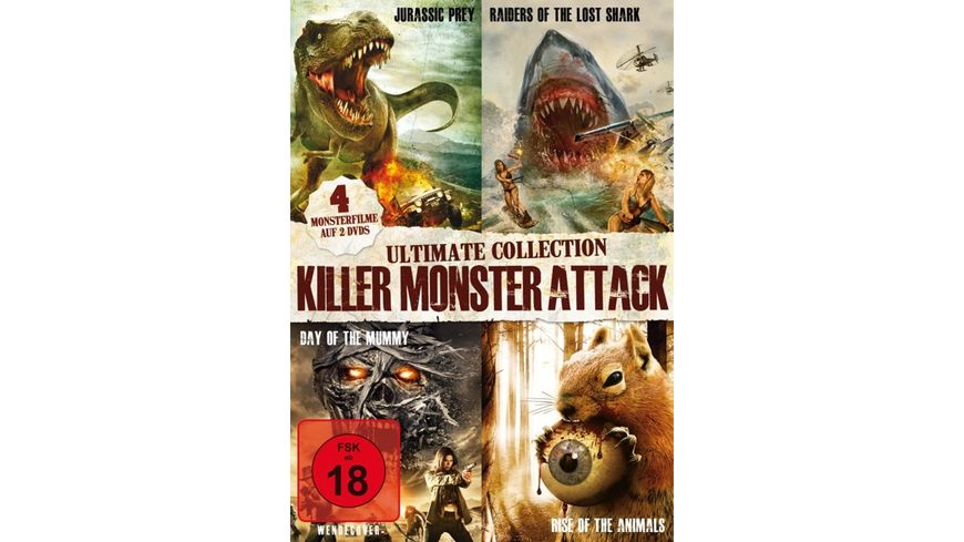 Killer Monster Attack Ultimate Collection 2 DVDs
