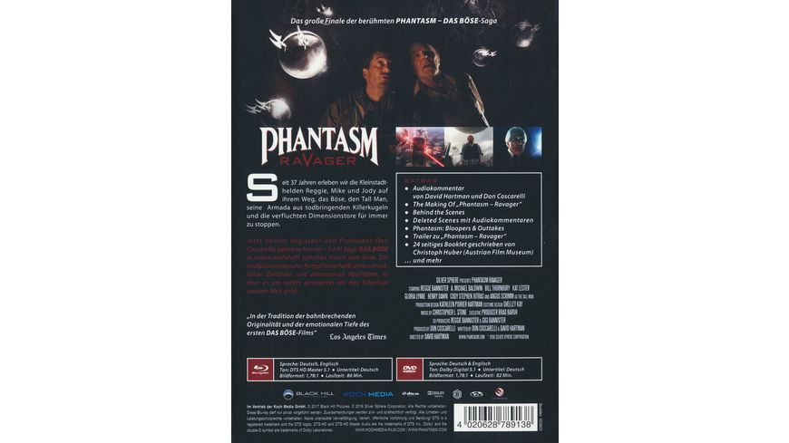 Phantasm V Ravager Das Boese V Mediabook Collector s Edition 2 DVDs