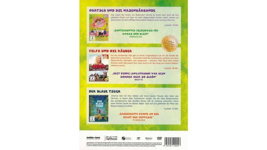 Abenteuertrio Kinderfilmbox Familienspass hoch 3 3 DVDs