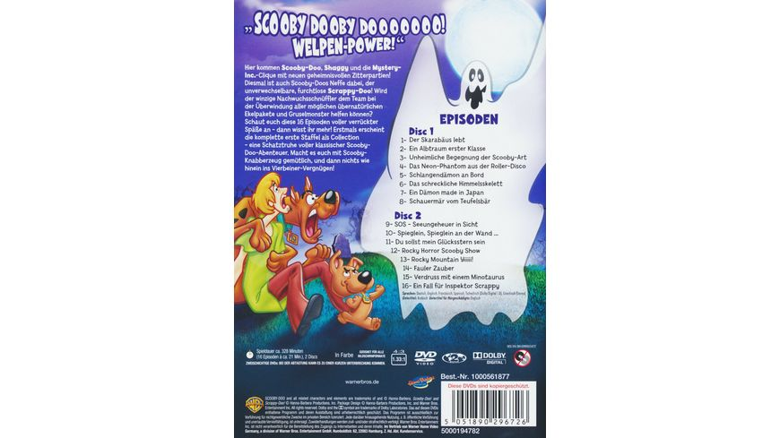 Scooby Doo Scrappy Doo Die komplette Staffel 1 2 DVDs