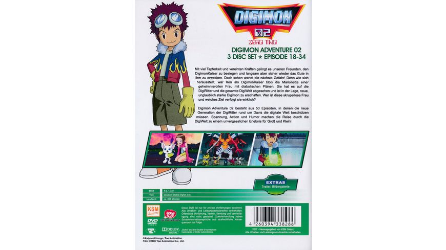 Digimon Adventure 02 Volume 2 Episode 18 34 3 DVDs
