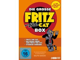 Die grosse Fritz the Cat Box 3 DVDs