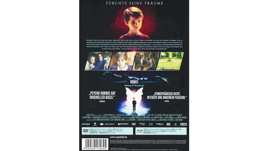Before I Wake Mediabook DVD Limited Collector s Edition
