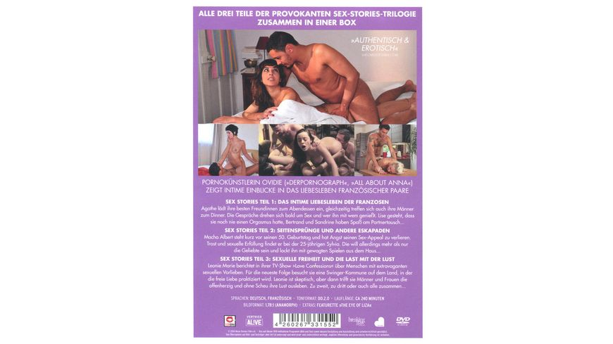 Sex Stories Teil 1 3 Komplettbox 3 DVDs