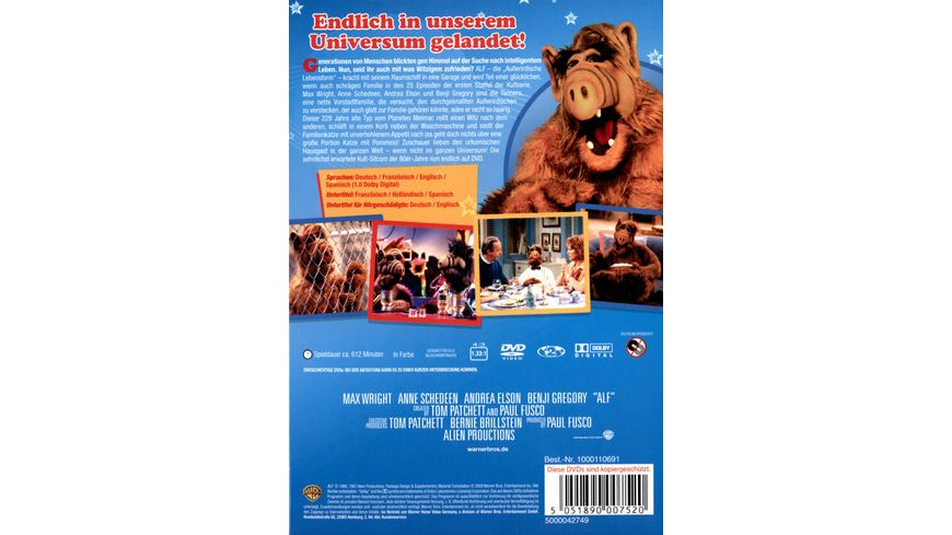 Alf Staffel 1 4 DVDs