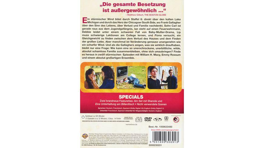 Shameless Staffel 6 3 DVDs