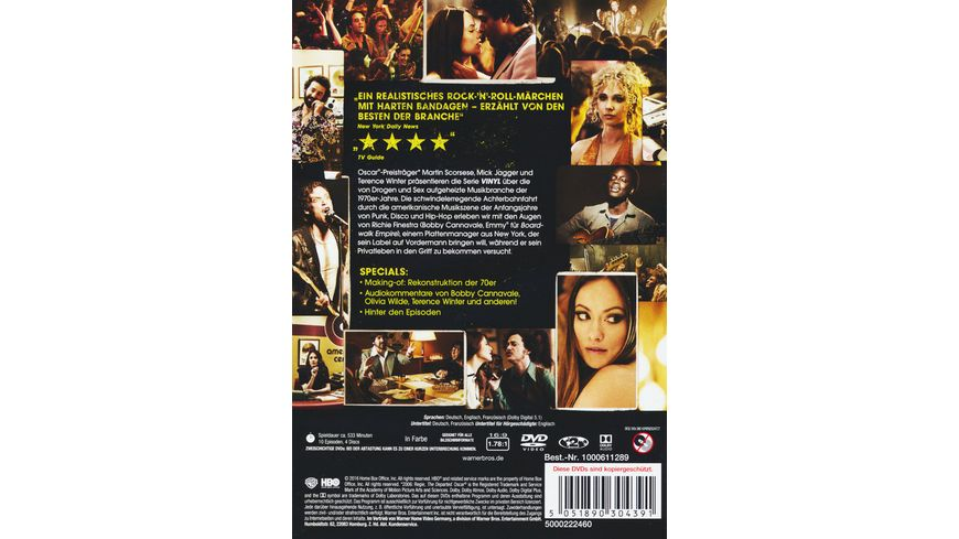 Vinyl Die komplette 1 Staffel 4 DVDs