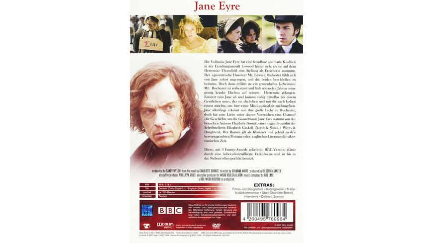 Jane Eyre Charlotte Bronte Literatur Classics 2 DVDs