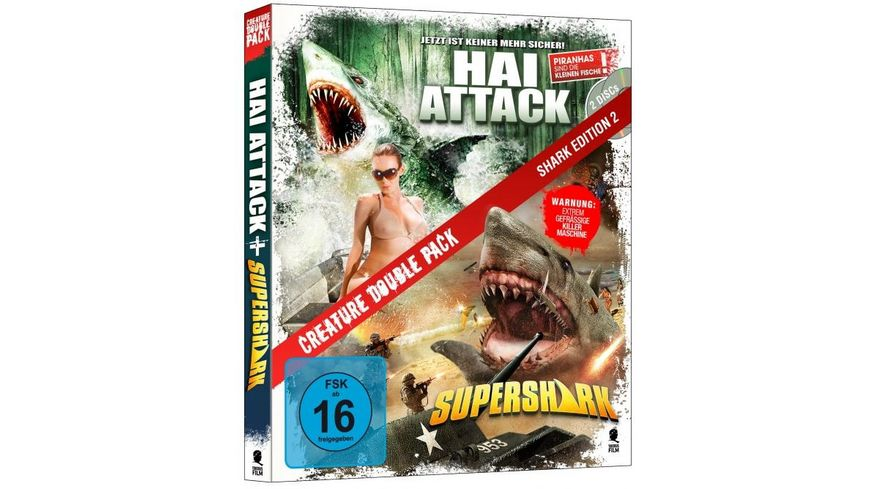 Creature Double Pack Shark Edition 2 Hai Attack Supershark 2 BRs