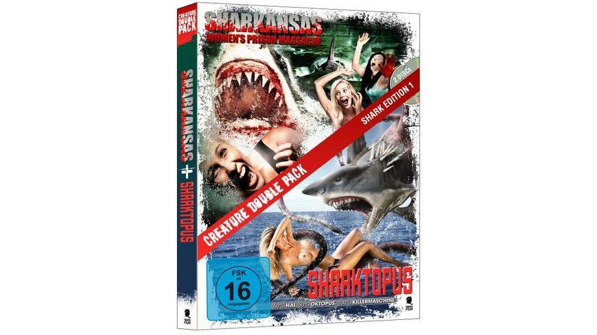 Creature Double Pack Shark Edition 1 Sharktopus Sharkansas Women s Prison Massacre 2 DVDs