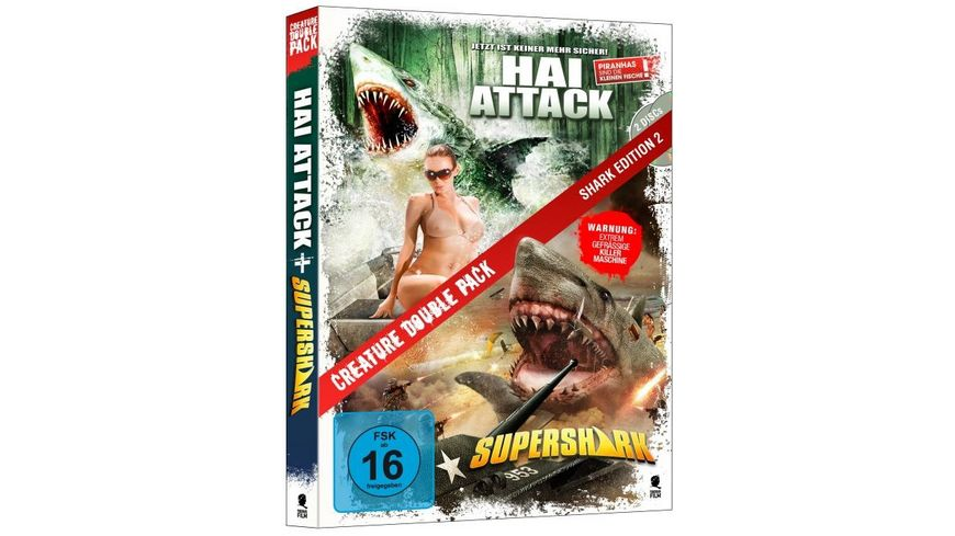 Creature Double Pack Shark Edition 2 Hai Attack Supershark 2 DVDs