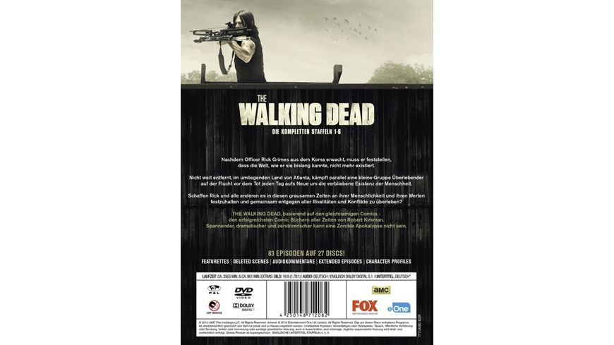The Walking Dead Staffel 1 6 Box Uncut 27 DVDs