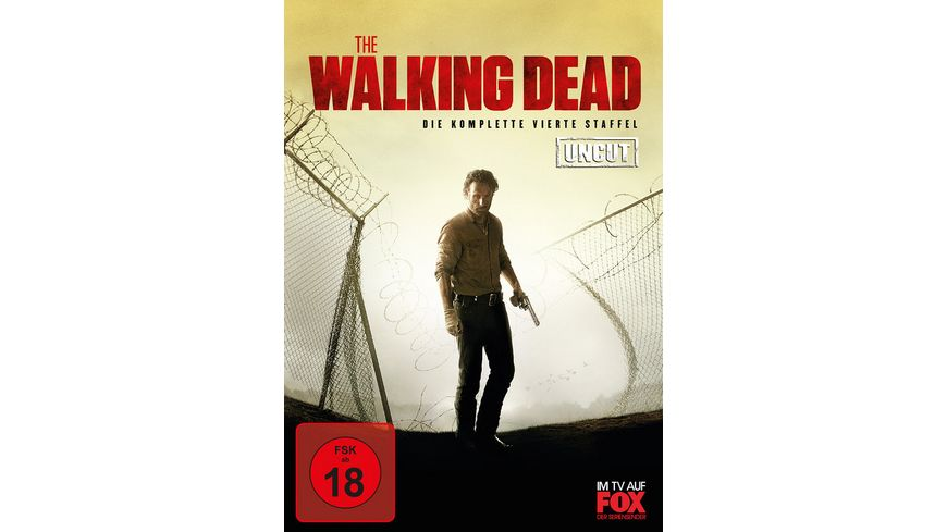 The Walking Dead Die komplette vierte Staffel Uncut 5 DVDs
