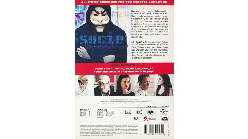 Mr Robot Staffel 2 4 DVDs