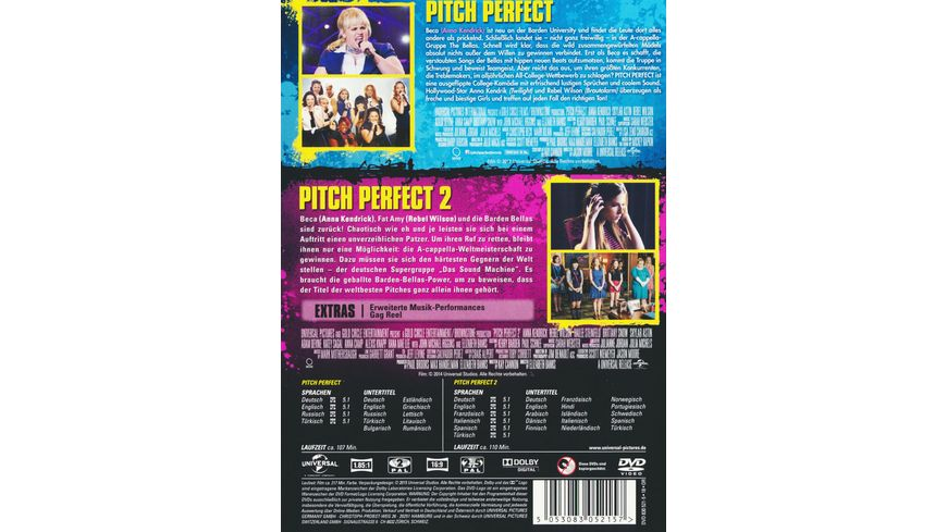 Pitch Perfect 1 2 Box 2 DVDs