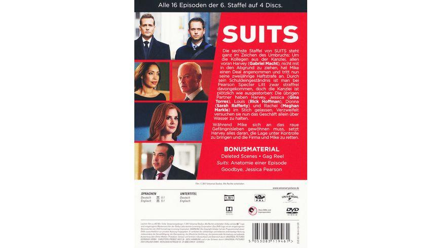 Suits Season 6 4 DVDs