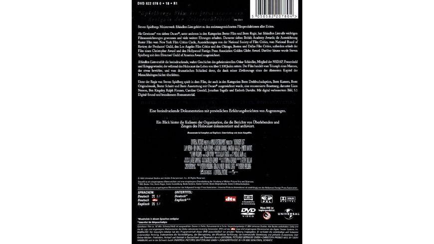 Schindlers Liste 2 DVDs